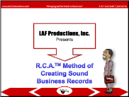 RCA Method of Creating Sound Business Records (DL)