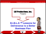 BIBLE Lessons for Deliverance to a Better Business Plan (DL)